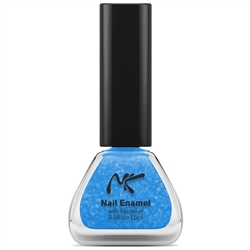 Neon Glitter Blue Nail Enamel by Nicka K New York