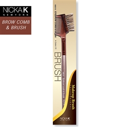 Professional Makeup Artist's Eyebrow Comb and Brush