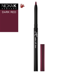 Dark Red Automatic Lip Liner Pencil by Nicka K New York