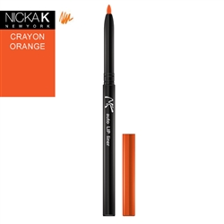 Crayon Orange Automatic Lip Liner Pencil by Nicka K New York