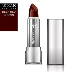 Deep Red Brown Cream Lipstick by NKNY