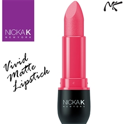 Vivid Matte Persian Rose Coloured Lipstick by Nicka K New York