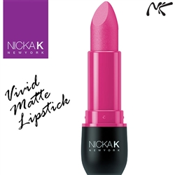 Vivid Matte Hot Pink Coloured Lipstick by Nicka K New York