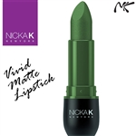 Vivid Matte Sea Green Coloured Lipstick by Nicka K New York
