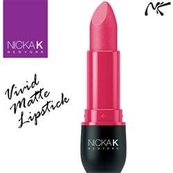 Vivid Matte Fashion Fuchsia Coloured Lipstick by Nicka K New York