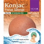 Red Clay Konjac Facial Sponge for combination skin