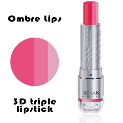 Ombre Lipstick | Strawberry Cosmo | 3D Lipstick by NKNY