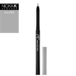 Silver Automatic Eyeliner Pencil by Nicka K New York
