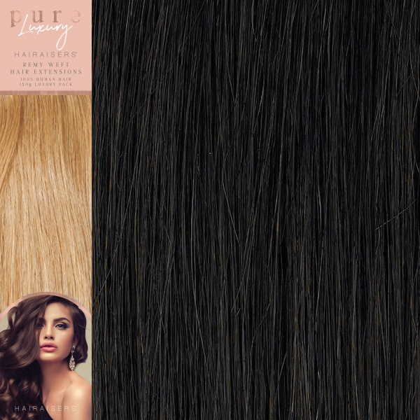 20 Inches 120 Grams Straight Remy Weft Pure Luxury Hair Extensions