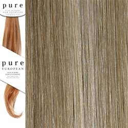 Pure Remy Clip In Hair Extensions 14 Inches Colour P12-/SB