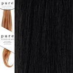 Pure Remy Clip In Hair Extensions 18 Inches Colour 1B