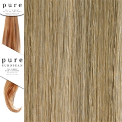 Pure Remy Clip In Hair Extensions 18 Inches Colour P16/22