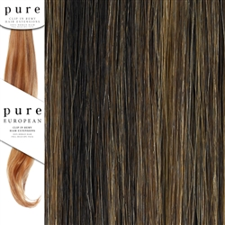 Pure Remy Clip In Hair Extensions 22 Inches Colour 4/27