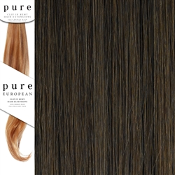 Pure Remy Clip In Hair Extensions 22 Inches Colour 6