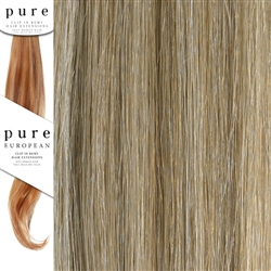Pure Remy Clip In Hair Extensions 22 Inches Colour P18/SB