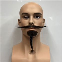 Plaited Chin Beard with Moustache
