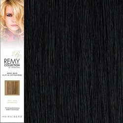 Hairaisers Remy Clip In Human Hair Extensions Colour 1 16 Inches