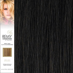 Hairaisers Remy Clip In Human Hair Extensions Colour 2 16 Inches
