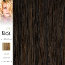 Hairaisers Remy Clip In Human Hair Extensions Colour 1B 16 Inches