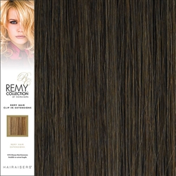 Hairaisers Remy Clip In Human Hair Extensions Colour 6 16 Inches