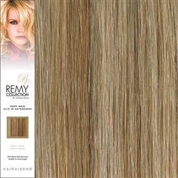 Hairaisers Remy Clip In Human Hair Extensions Colour 27/SB 20 Inches