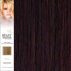Hairaisers Remy Clip In Human Hair Extensions Colour 99J 20 Inches