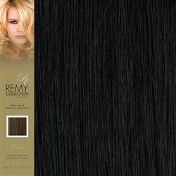 Hairaisers Indian Remy Human Hair Weft Extensions Colour 1 16 Inches