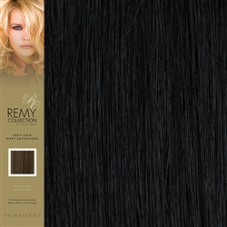 Hairaisers Indian Remy Weft Human Hair Extensions Colour 1 18 Inches