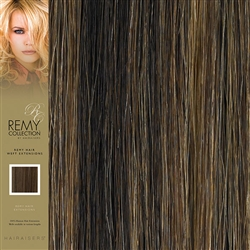 Hairaisers Indian Remy Weft Human Hair Extensions Colour 4/27 18 Inches