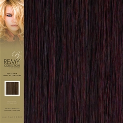 Hairaisers Indian Remy Weft Human Hair Extensions Colour 99J 18 Inches