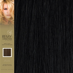 Hairaisers Indian Remy Human Hair Weft Extensions Colour 1B 20 Inches