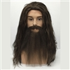Male Character Long Wig, Beard and Moustache Set