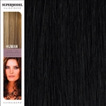 Hairaisers Supermodel 18 Inches Colour 1B Clip In Human Hair Extensions