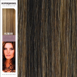 Hairaisers Supermodel 18 Inches Colour 4/27 Clip In Human Hair Extensions