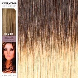Supermodel 18 Inches Ombre Colour 2/24 Clip In Human Hair Extensions