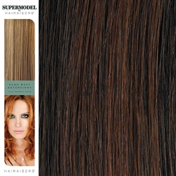 Hairaisers Supermodel 18 Inches Colour 1B/33 Weave Human Hair Extensions