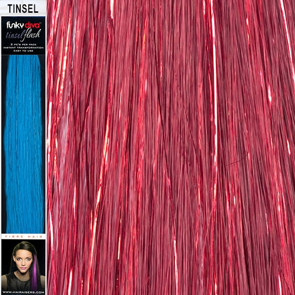 Tinsel Hair Extensions 16 Inches By 15 Inches 2 Pieces Per Pack