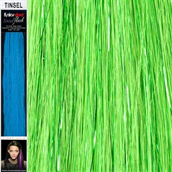 Tinsel Hair Extensions 16 Inches by 1.5 Inches. 2 Pieces Per Pack