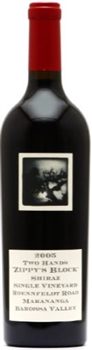 Two Hands Shiraz Roennfeldt Road Zippy's Block 2005 Double Magnum 3L