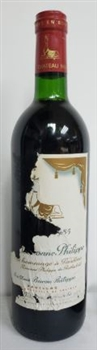 Chateau Mouton Baronne Philippe 1985 (damage label)