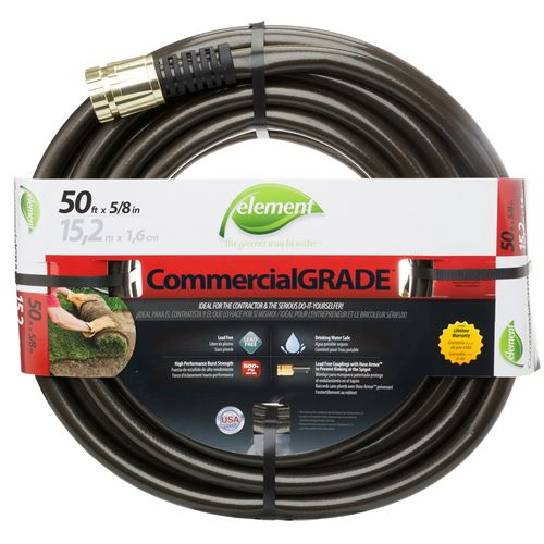Durable and kink-resistant Element CommercialGRADE 50-foot water hose for commercial applications