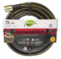 Extra-strong and kink resistant Element CommercialGRADE 75-foot water hose for commercial applications