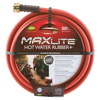 "MAXLiteâ""¢ 50' 5/8"" Hot Water Rubber+â""¢ Hose"
