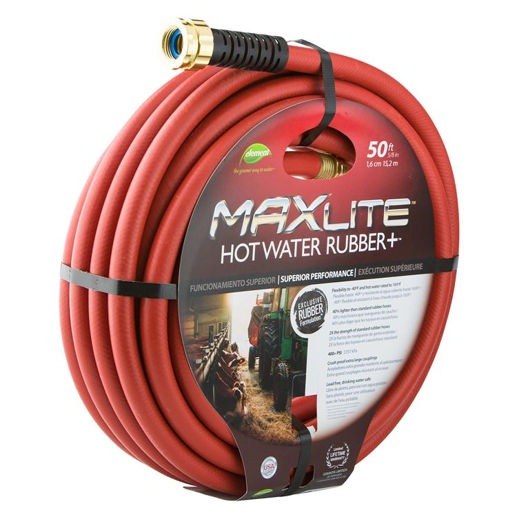 Maxlite 50 foot 58 inch hot water rubber hose our publicscrutiny Images