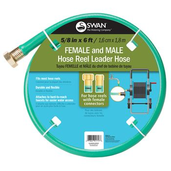 Swan Female and Male Hose Reel Leader Hose