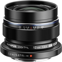 Olympus M.Zuiko Digital ED 12mm f2.0 Lens (Black) from Drones Made Easy