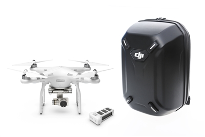 DJI Phantom 3 advanced quadcopter drone with 2.7K camera battery backpack
