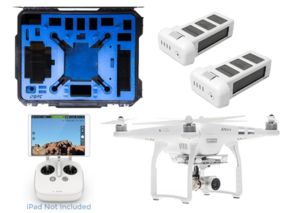 DJI Phantom 3 advanced quadcopter drone with 2.7K camera and case