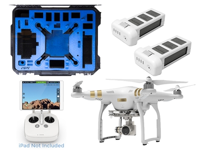 DJI Phantom 3 professional quadcopter drone with 4K camera and case