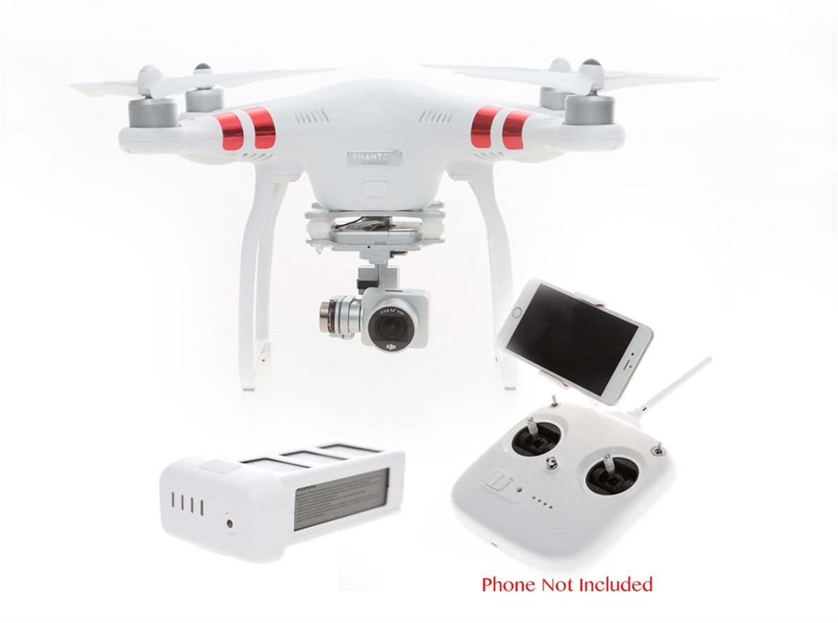 Dji Phantom 3 Drone >> Phantom 3 Standard Quadcopter With Spare Battery